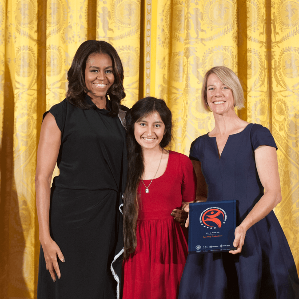 Spy Hop was recognized with The National Arts and Humanities Youth Program Award in 2015
